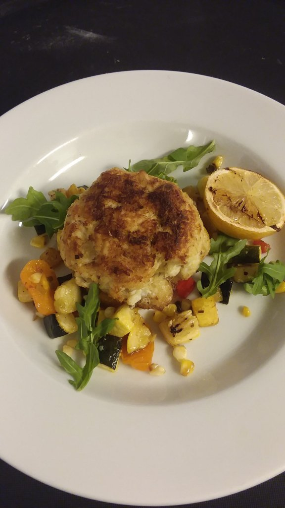 Crab Cake & Summer Salad
